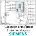GeneratorTransformer Protection System full diagram based on SIPROTEC Siemens Relays